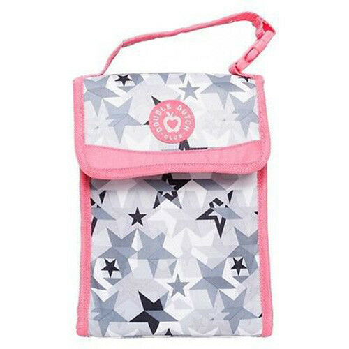 """New with Tags Double Dutch Club Super Star Gray 9.5"""" Kids Lunch Tote Bag Pail"""
