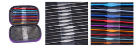 22 Pieces Mixed Multicolor Aluminum Handle Crochet Hook Knitting Knit Ne... - $21.99
