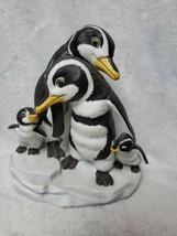 Franklin Mint ~ WE FOUR ~ Penguin Handpainted Porcelain Figurine Sculptu... - $49.45