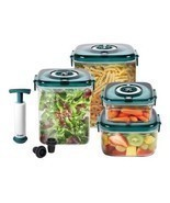 Nuwave 11-Piece Flavor Locker Deluxe Set Kitchen Food Storage vacuum loc... - £39.21 GBP