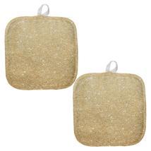 Faux Gold Glitter All Over Pot Holder (Set of 2) - $18.95