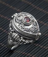 Sale Poison ring, Locket ring, sterling silver locket ring, Box ring (R257) - $38.00+
