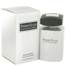 Perry Ellis Platinum Label By Perry Ellis Eau De Toilette Spray 3.4 Oz For Men - $32.42
