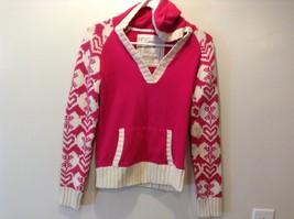 Old Navy Kids Pink/White Warm V-Neck Sweater Sz XL
