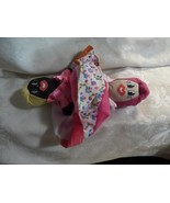 "10"" Folk Art Rag Doll Topsy Turvy Black & White Hand Made Souvenir - $10.00"