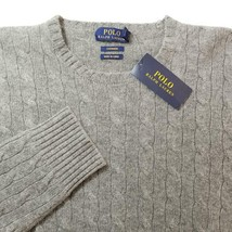 Polo Ralph Lauren Men's Sweater Cashmere Gray Sz XL NWT $399 - $179.07