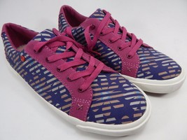 UGG I Heart Lace Up Floral Stripe Sneakers Shoes Women's Size 7 M 1010302 Purple