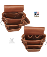 AMISH LEATHER TOOL POUCH Construction Work Belt Bag Set Left Right USA H... - $88.17+