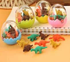 1PC Mini Dinosaur Egg Pencil Rubber Eraser Students Stationary Gift Dino... - $5.87
