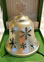 Hallmark Filigree Bell Dated 2005 Christmas Snowflake Design In Original Box - $9.88