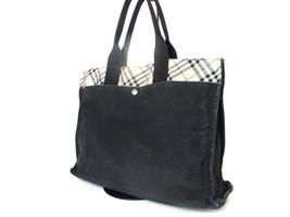 Authentic BURBERRY LONDON BLUE LABEL Black Canvas Tote Bag, Shoulder Bag... - $149.00