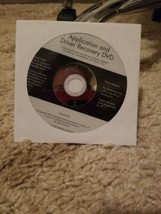 HP Application And Driver Recovery DVD  - $20.79