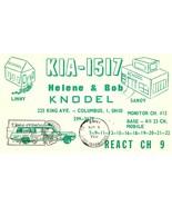 Vintage QSL Postcard   KIA 1517   Columbus, Ohio   Helene & Bob Knodel  ... - $22.05