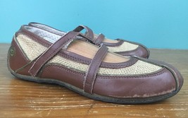 Skechers Soho Lab Women's Slip On Shoes - Size 6.5 - Brown Leather & Canvas - £14.91 GBP