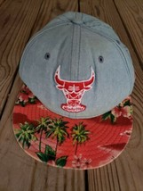 Chicago Bulls NEW ERA  Floral Strapback Men's Hat Cap Hardwood Classics M-L  - $14.01