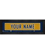 "Personalized Nashville Predators Stitched Team Jersey 8"" x 24"" Framed Print - $38.50"