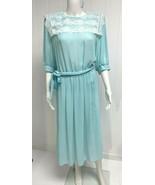 Vintage Monica Richards Mujer Vestido Funda Verde Claro Talla 14 - $14.45