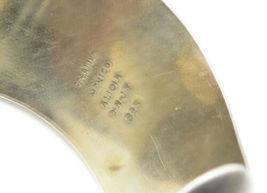 ALICIA MEXICO 925 Silver - Vintage Smooth Wavy Designed Cuff Bracelet - B6317 image 4