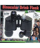 Binocular Drink Flask Two Sided Holds 16 oz Hid... - $14.95