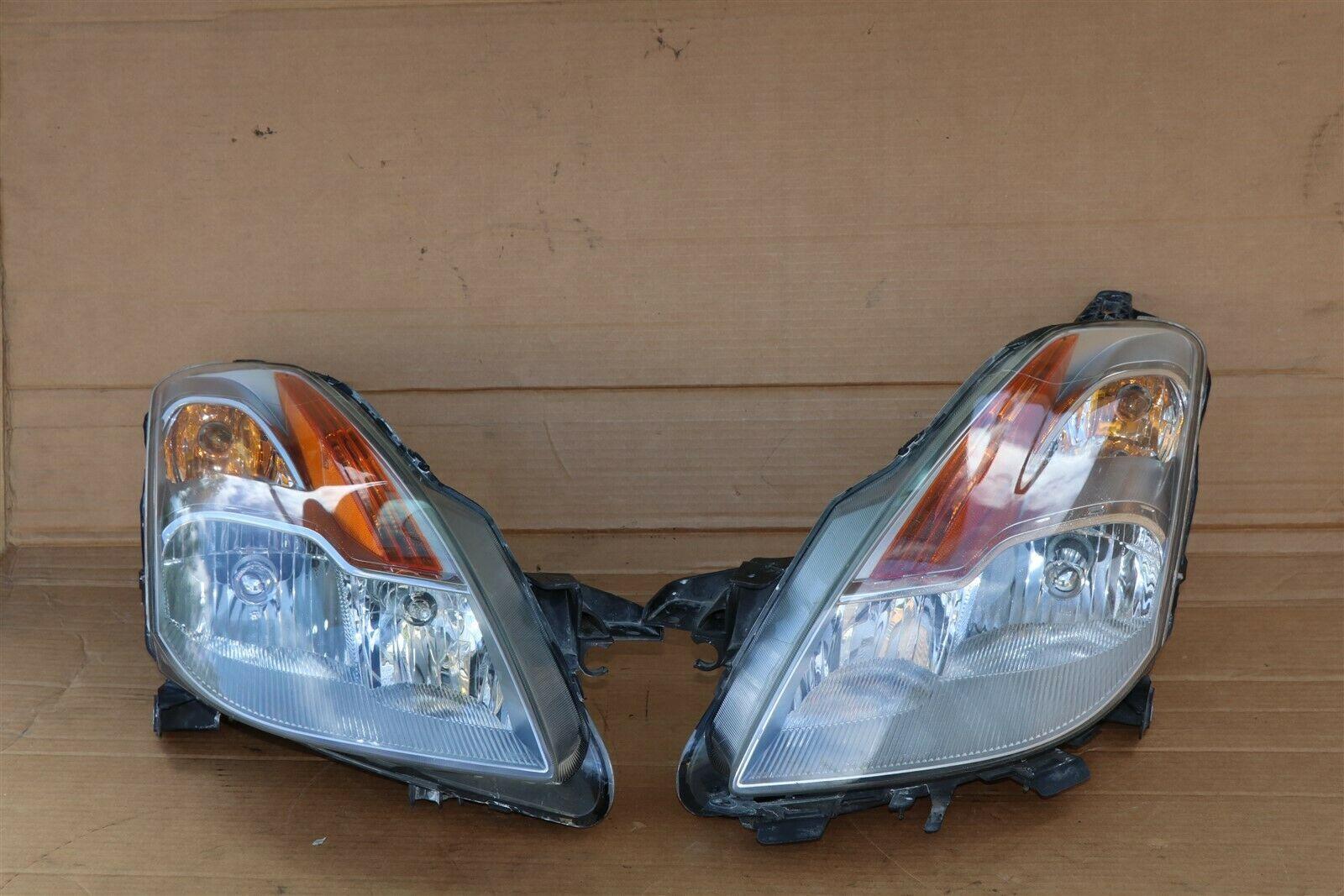 08-09 Nissan Altima 3.5 Coupe Xenon Headlight Head Light Lamps Set L&R POLISHED