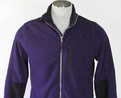 Nautica Zip Front Deep Cobalt Fleece Jacket Mens Small S NWT $79 image 3
