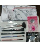 (5) Luxie Makeup Brushes With Beautyblender, Makeup Drop, & Marble Makeu... - $24.74