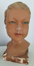 Antique German 1940 child mannequin head Art Deco Mid Century décor - $330.00