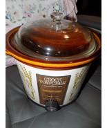 Vintage Crock Watcher Hamilton Beach 4 Quart Cook And Serve Herbs Crockpot - $100.00
