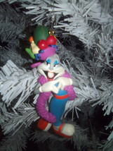 "Hallmark Keepsake Bugs Bunny ""Latin Dance"" fruit hat Christmas ornament - $6.99"
