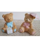 "Baby Shower/Cake Topper/Nursery Decor Boy/Girl Small Ceramic Teddy Bears 3""x2.5"" - $14.95"