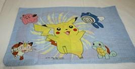 "Pokemon Standard 1 Pillowcase Fabric Material 20"" x 26"" Pikachu Meowth P... - $19.23"