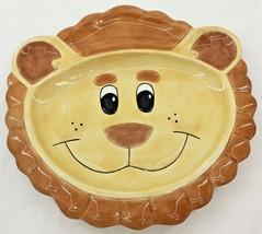 Fitz & Floyd Ceramic Embossed Lion Plate Childrens Serving Dish Dinnerware Plate - $14.92