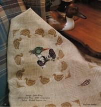 Cross Stitch Wood Duck Mallard Afghan Framed Print Candlescreen Neighbor Pattern - $7.99