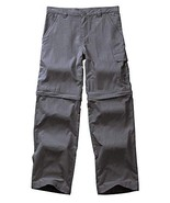 Kids Boy's Outdoor Quick Dry Convertible Pants, Hiking Camping Fishing Z... - $25.44