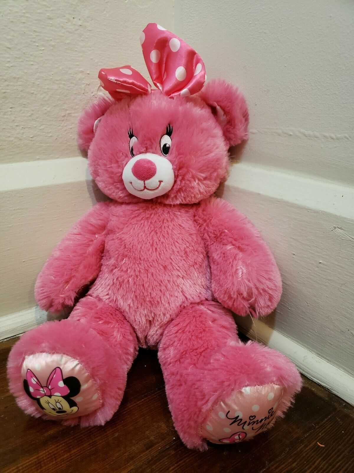 "Build A Bear 16"" Pink Minnie Mouse Plush"