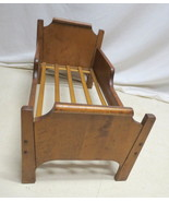 Antique Pine Baby Doll Dog Bed Headboard Foot Board Removable Slat Botto... - $74.20