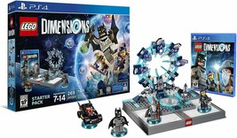 Lego Dimensions Playstation 4 Starter Pack 269 PCS 71171 Free Aquaman Fu... - $306.89