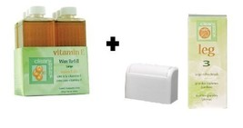 Clean & Easy Wax Refill 6-pack Large Vitamin E + Clean & Easy Wax Roller Head 3-