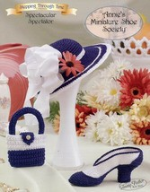Spectacular Spectator Annie's Miniature Shoe Society Crochet PATTERN/INS... - $3.57