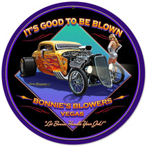 It's Good To Be Blown by Larry Gross Man Square Metal Sign - $29.95