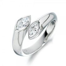 Marquise Shape CZ Fancy Toe Adjustable Ring White Gold Plated Pure 925 Silver - £11.94 GBP