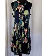 Maison Vandenvos Navy Blue Peacock Dress Bubble Hemline Size 2 - $229.81