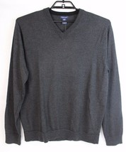 Gap Laine Merino Homme Pull Col V Manches Longues Gris Hong Kong Taille XL - $22.79