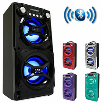 Party Speaker System Bluetooth Big Led Portable Stereo Light Up Tailgate - $41.50 CAD+