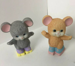 NEW Vintage Avon Fine Collectibles ~Best Buddies Skating Mice~ Procelain - $14.50