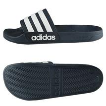 Adidas Adilette Shower Cloudfoam Slides Sandals Slipper Navy/White AQ1703 - $37.99+