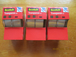 "New Scotch Transparent Tape 2-Rolls 3/4"" x 500"" (3 Packs - 6 Rolls/1500""... - $4.95"