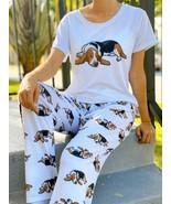 Dog Basset Hound pajama set with pants for women - $35.00