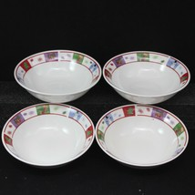 "Oneida Holiday Surprise Cereal Soup Bowl Xmas 6-1/4"" Set of 8 - $48.99"
