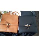 Cosmopolitan Double-Closure Black Leather Crossbody/Shoulder Bag by Fiore - $42.90